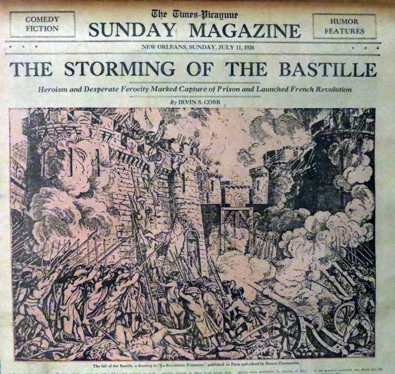 This is a graphic of Lively Storming Of The Bastille Drawing